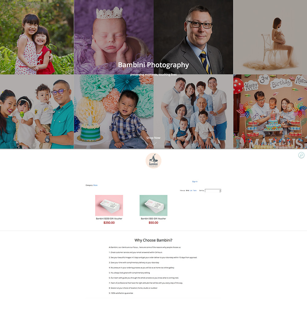 Bambini Online Store